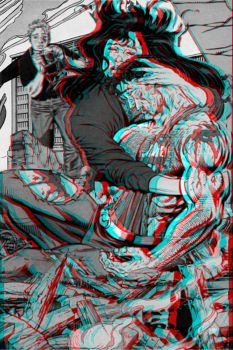 Death of Superman 3d Anaglyph by christopherbyrd