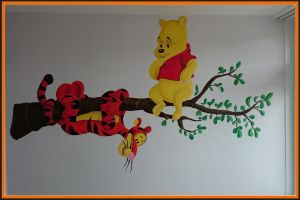Winnie the Pooh and Tiger Wall Mural by PIKEO