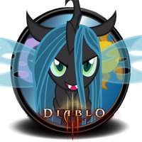MLP Icon - Diablo 3 w/ Queen Chrysalis by Gefey