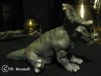 Chasmosaurus Hatchling (Right Side) by she1badelf