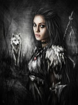 Northern Wolf by JustinGedak