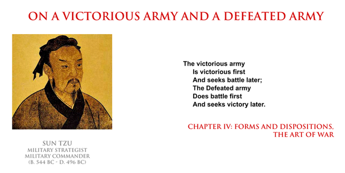 Sun Tzu - on a victorious army and a defeated army by YamaLama1986