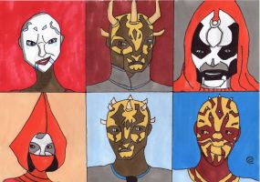 Sketch Card: Nightsister Trilogy by Giorgia99