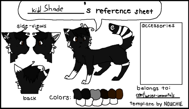 Kid!Shade's Reference Sheet by centuries-immortals