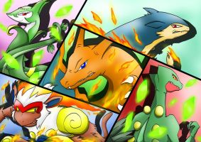 All My Starter in Pokemon by ArchRizal