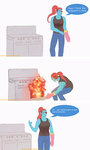 Undertale comic : Undyne's cooking by atomicheartlight