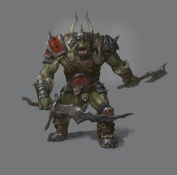 Warhammer Inspired Orc by Jordy-Knoop