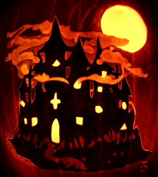 The Dark Palace of Darkness Pumpkin by johwee