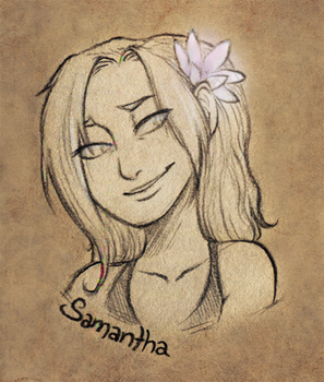 Samantha [Sketch Commission] by persian-pirate
