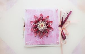 Quilling card :) by othewhitewizard