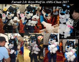 Krys-Wolf Fursuit in AMG-Chan 2017 by krystlekmy