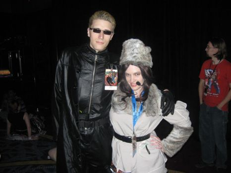 Wesker and Jessica by Kamisamaa