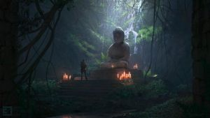 Jungle shrine interior shot by JamesCombridge