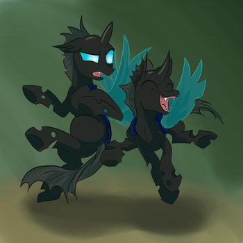 Some changelings just wanna have fun. by Necrath