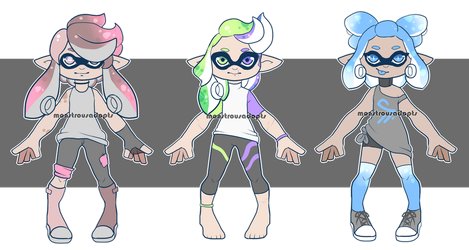 Ink Kids 4 (OPEN) by MonstrousAdopts