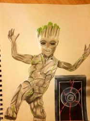 dancing baby groot  by yorkshirepudding1990