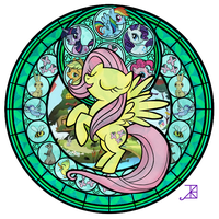 Fluttershy Stained Glass by Akili-Amethyst