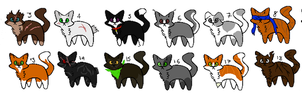 20 Free Mystery Cat Adopts (GONE) by H202Cadfan