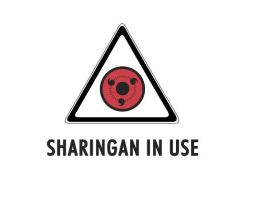 Sharingan in Use T-shirt logo by lizzabell