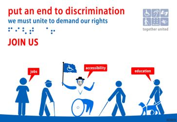 Peaceful disabled people: call to action by robodesign