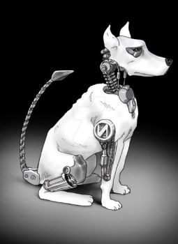 Robot Dog old forgotten piece by danimation2001