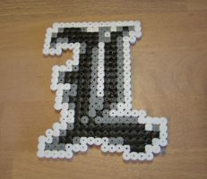 L - Death Note in Hama Beads by Nidoran4886