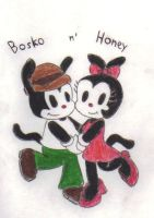 Bosko and Honey by KessieLou
