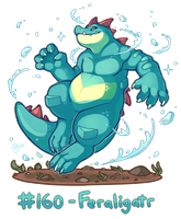 Pokemon #160 - Feraligatr