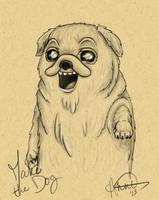 Jake The Dog (AT) by fairygodpiggy