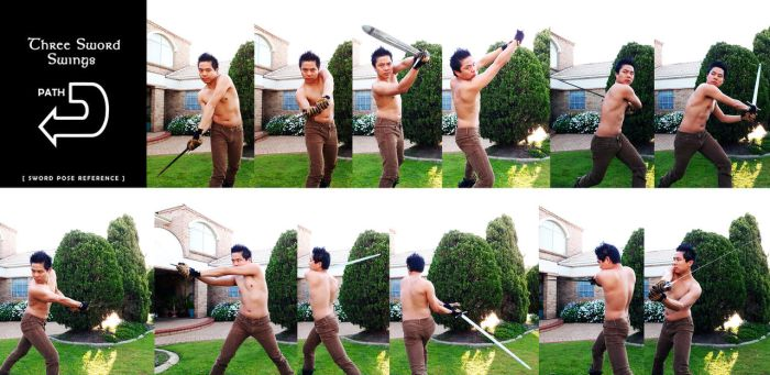 Sword Poses for Art Reference (Set 1) by darkspeeds