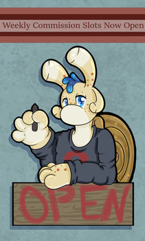 This Weeks Commission Slots Now Open by graveyardcritter