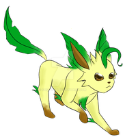 Pokemon Challenge: Day 1- Leafeon by Sass-Cat