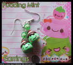 Pudding Mint Earrings by AyumiDesign