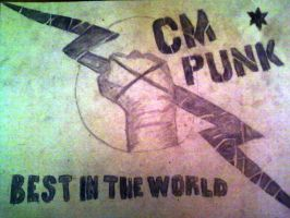 CM Punk Drawing by RKv15