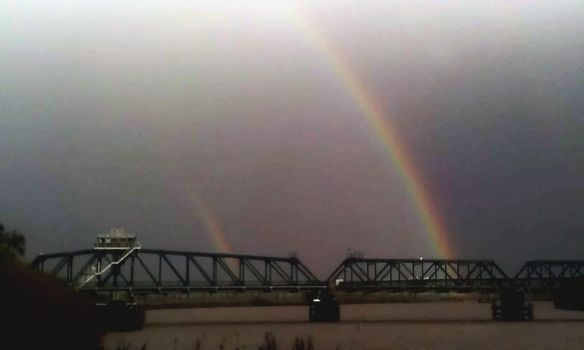 Double Rainbow Obscured by Fog by RoseFrankiie
