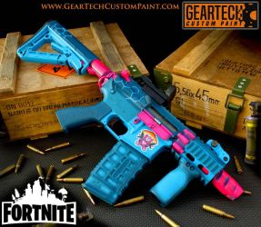 Custom painted airsoft Firehawk by dog-green-1