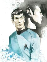 Star Trek Watercolor: Spock by JAWart728
