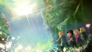 Earthbound Waterfall SCENE BOING by silverflamng