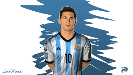 Messi Vector by MDesign25