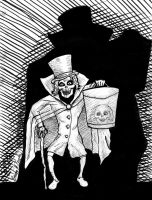 Haunted Mansion Hat Box Ghost by brodiehbrockie