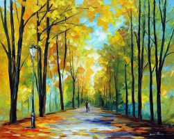 Happy Morning by Leonid Afremov by Leonidafremov