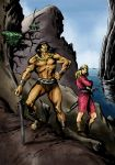 CONAN AND VALERIA-color UPDATE by benitogallego
