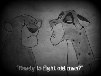 'Ready to fight old man?' by WolfSpirit97
