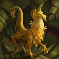 Tiny Banana Dragon by YSLiao