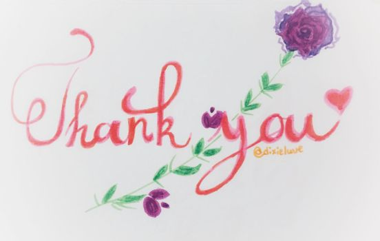 Thank you~ by DixieLuve