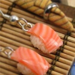 Sushi Earrings by fairchildart