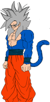 Goku SSJ Ultimate Mastered Flat Color V2 by Thunderstudent