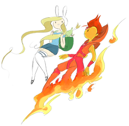 Fionna and FP by EmiMG