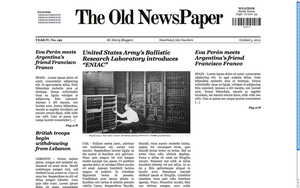 The Old NewsPaper WP theme CIP by lysergicstudio