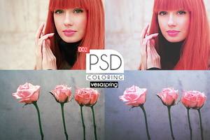PSD Coloring 002 by vesaspring